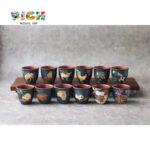 RM-CSF10 12 زودياك فنجان الرمال الأرجواني السيراميك ماجستير العمل جمع هدية
