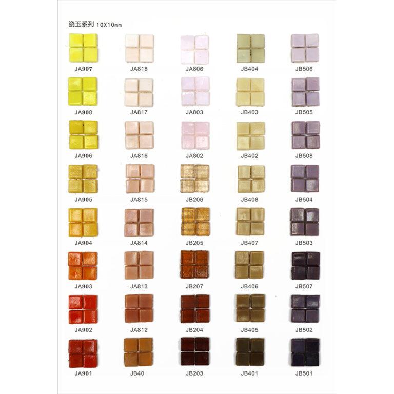 RM-LS02 10X10 mm Mosaico azulejos sueltos para arte Craft Kit
