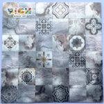 LQ-A-APS04 Peel and Stick Wall Tile Metal Mosaic Самоклеящаяся наклейка на стену DIY Craft Плитки Алюминиевая поверхность 4 мм Толщина Водонепроницаемый
