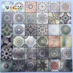 LQ-A-APS05 Алюминиевый металл & ПВХ Самоклеящиеся мозаичные плитки Дизайны Наклейка на кухонный фартук
