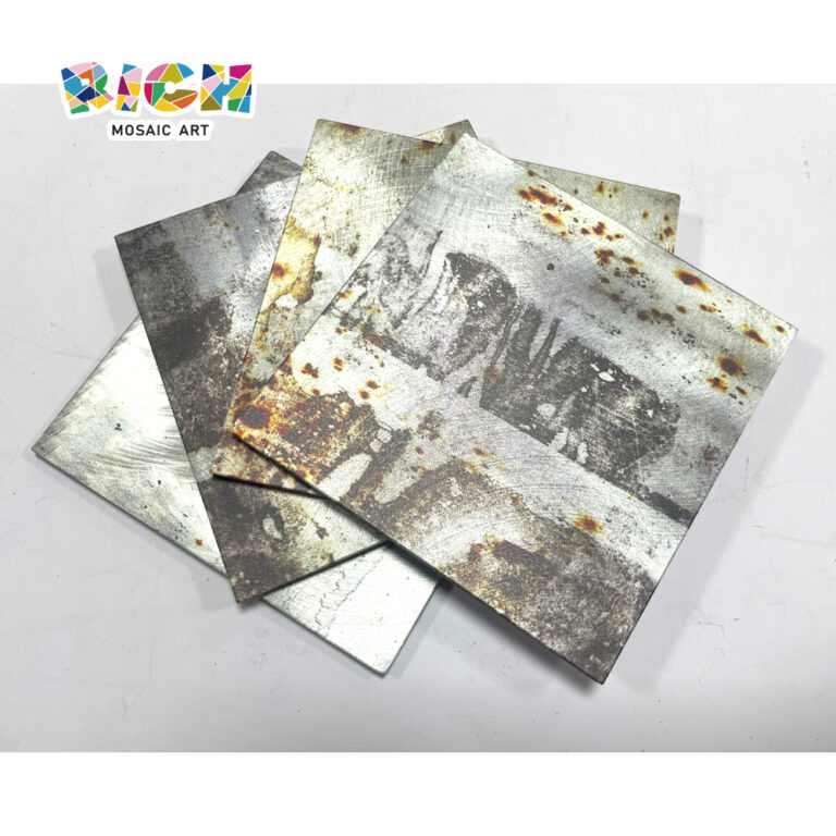 LQ-D-APS03 Heavy Industry Estilo Rust Metal Mosaic Patch