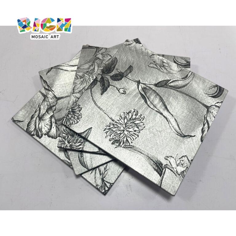 LQ-D-APS06 Floral Padrão Fresco Mosaico de Metal de Cozinha